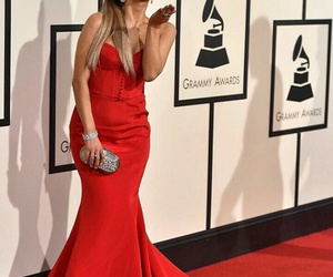 red carpet, grande, and grammys image
