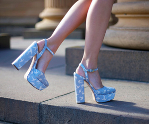 shoes, fashion, and blue image