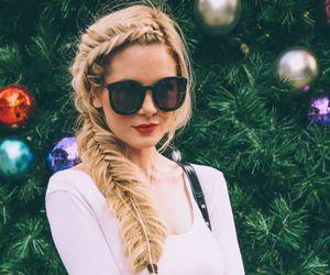 moda, sunglasses, and blanco y negro image