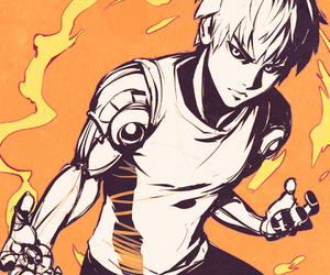 anime, one punch man, and genos image