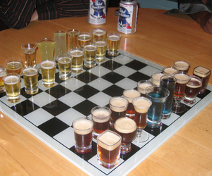 chess, drink, and alcohol image