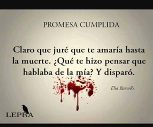 love, blood, and frases image