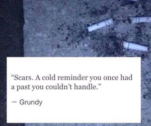 scars, sad, and quote image
