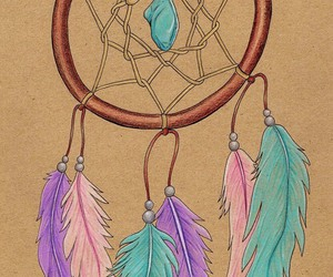 artwork, drawing, and dream catcher image