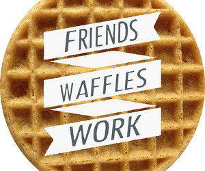 funny, quote, and waffles image