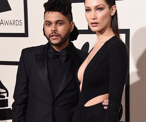 bella hadid, the weeknd, and grammys image