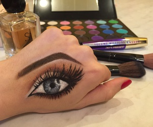 eyes, fashion, and mac image
