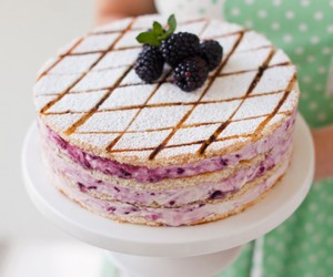 blackberry, cake, and mint image