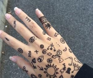 grunge, hand, and tattoo image