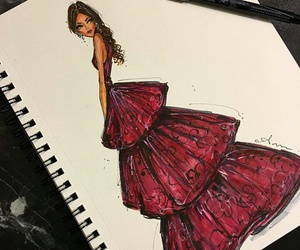 draw, golden globes, and dress image