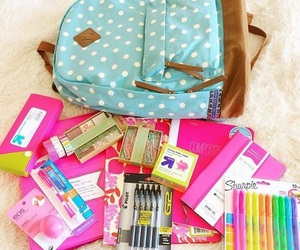 school, supplies, and korean image
