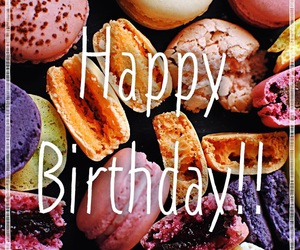 colors, delicious, and happy birthday image