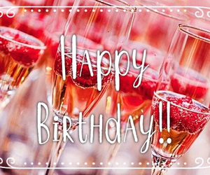 champagne, happy birthday, and party image