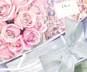 dior, flowers, and chic image