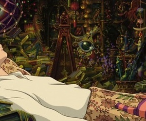 howl's moving castle, Howl, and ghibli image