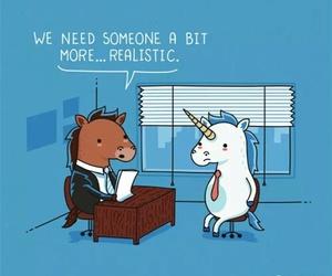 unicorn, horse, and realistic image