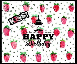 colors, happy birthday, and strawberry image