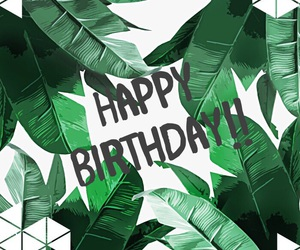 green, happy, and happy birthday image