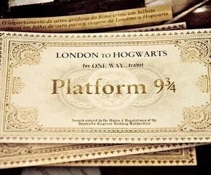harry potter, hogwarts, and ticket image