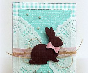 bunny, cake, and card image