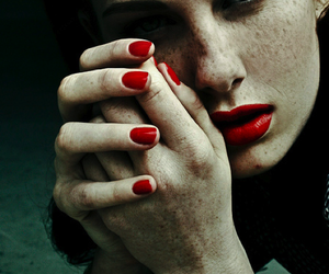 girl, red, and freckles image