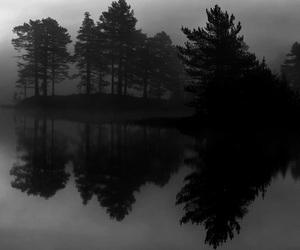 black, Darkness, and lake image