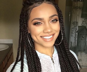 braid, makeup, and beauty image