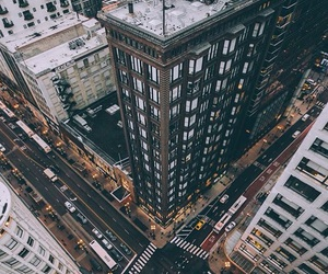cabs, skyscraper, and cars image