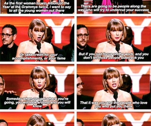 speech, Taylor Swift, and album of the year image