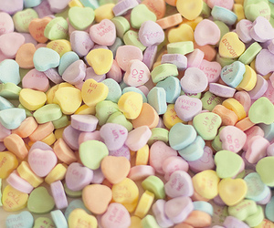 candy, color, and heart image