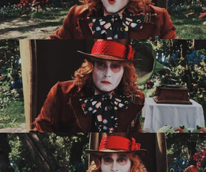 alice in wonderland, mad hatter, and tim burton image