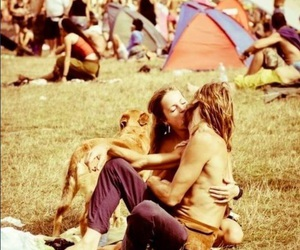 60s, couple, and festival image