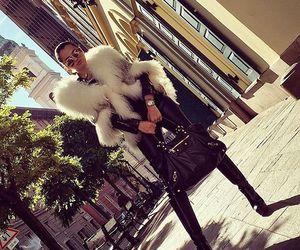 black, fur, and luxury image