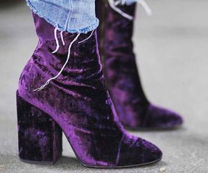 fashion, purple, and velvet image