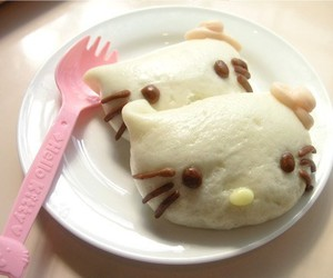 food and hello kitty image