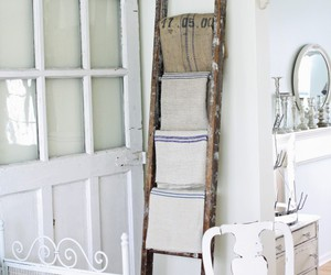 home decor, ladders, and repurposed image