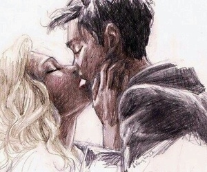 kiss, percabeth, and percy jackson image