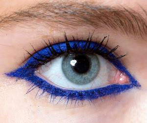 beauty, blue eyeliner, and love image