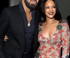 couple, Drake, and rihanna image