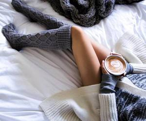 coffee, socks, and cozy image