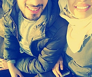 fashion, smile, and couple hijab image