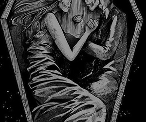 love, death, and coffin image