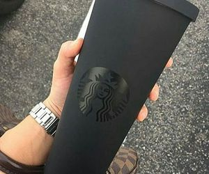 starbucks and black image