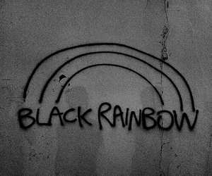 black, rainbow, and grunge image