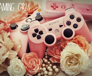gamer, gaming, and pink image