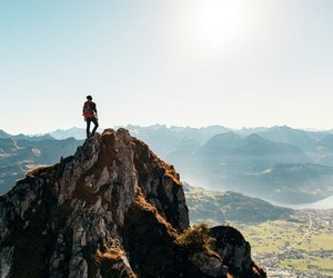 climbing, scenery, and mountain image
