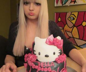 blonde, Ella, and hello kitty image
