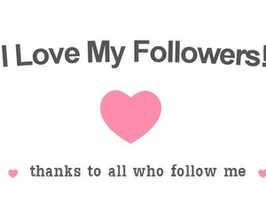 love, followers, and thank you image