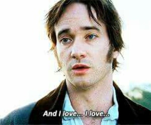 mr darcy, pride and prejudice, and book image