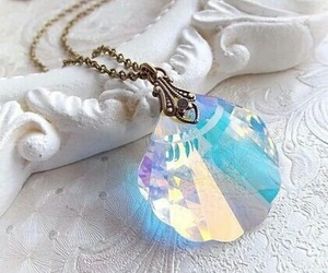 necklace, mermaid, and blue image